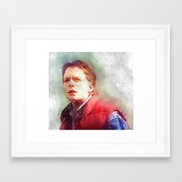 mcfly Framed Art Prints featuring Marty Mcfly by Kaivan Askari