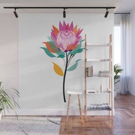 Protea Illustration; Botanical; Australian Native Wall Mural