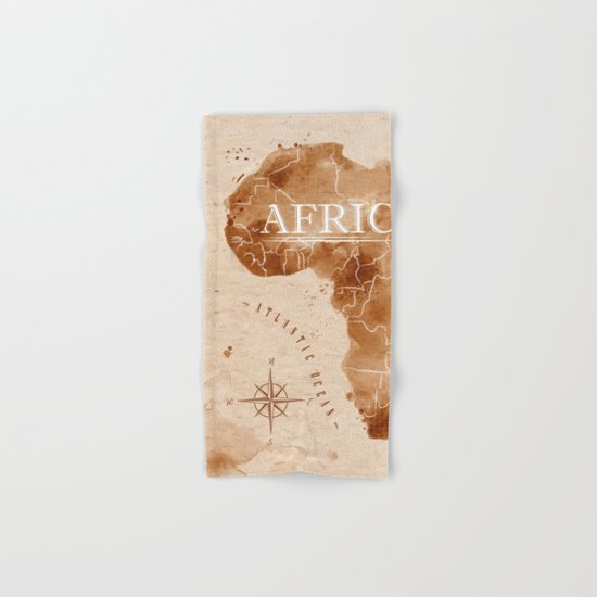 Vintage Africa Map  Hand & Bath Towel