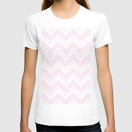 Chevron Zig Zag pattern pink on white on #Society6 T-shirt
