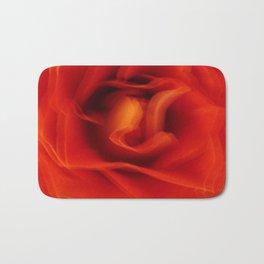 Flower Red Rose Abstract Bath Mat