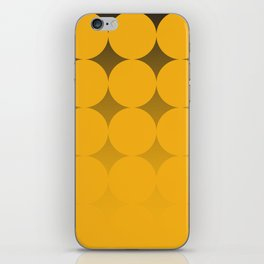 Circling Yellow iPhone Skin