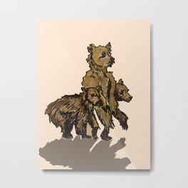 Onward ( baby bears) Metal Print