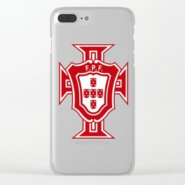 Portugal soccer logo FPF Clear iPhone Case