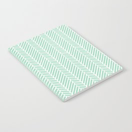 Herringbone Mint Inverse Notebook