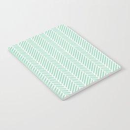 Herringbone Mint Inverse Notebook