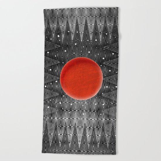 Bodacious Blood Moon Beach Towel