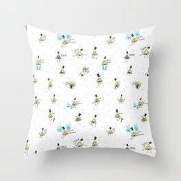 Bill demon pattern Throw Pillow