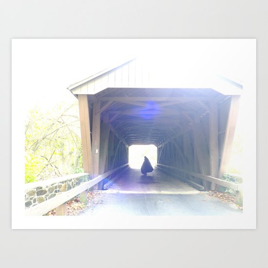 ghost on the bridge Art Print