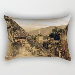 Lost Cross Rectangular Pillow