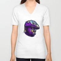 biggie smalls V-neck T-shirts featuring Biggie Smalls by William Benitez