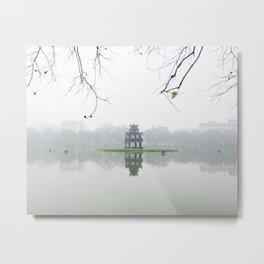 Foggy morning - Hanoi Metal Print