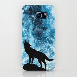 Howling Winter Wolf snowy blue smoke iPhone Case