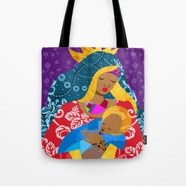Virgin Mary and Child Tote Bag