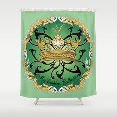 My Empire Collection Summer Set mint green Crown Shower Curtain
