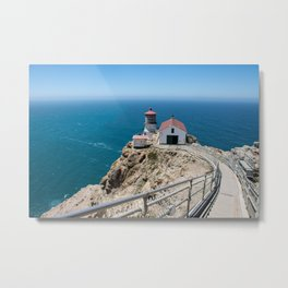 Point Reyes Lighthouse on the Pacific Ocean Metal Print