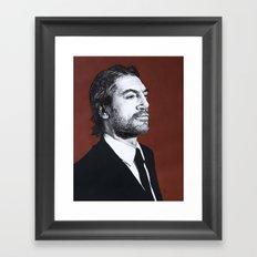 Portrait of Javier Bardem Framed Art Print