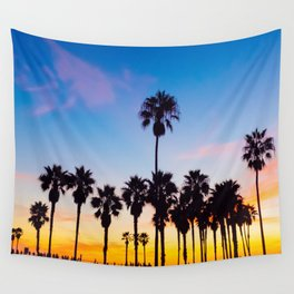 Venice Beach at Sunset Wall Tapestry