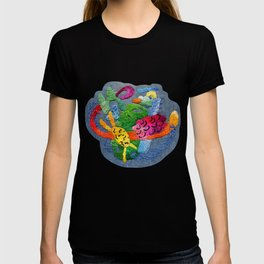 abstract embroidery T-shirt