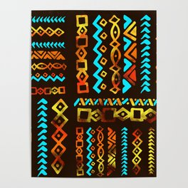 Bold Ethnic pattern n.5 Poster