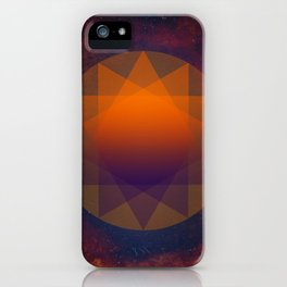 Merkaba, Abstract Geometric Shapes iPhone Case