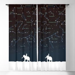 Falling star constellation Blackout Curtain