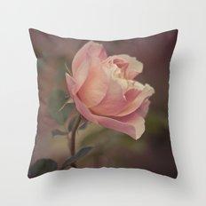 Autumn Rose Vintage-Style Floral Fine Art Photo Print Throw Pillow