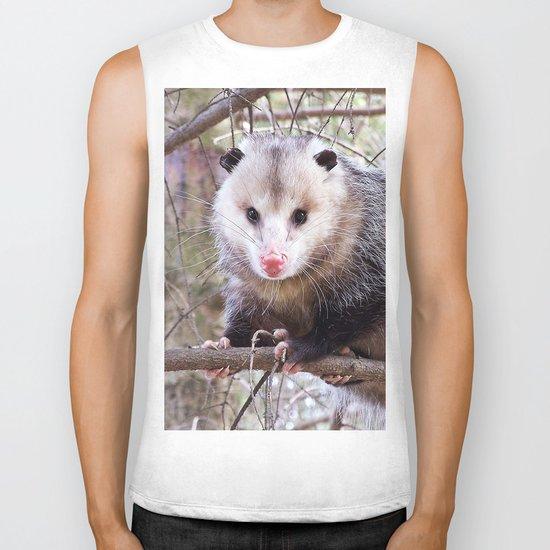 Possum Staredown Biker Tank