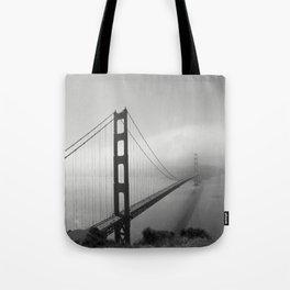 The Golden Gate Bridge In A Mist Tote Bag
