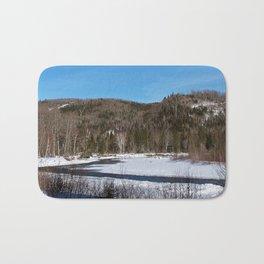 Winding River in Winter Bath Mat