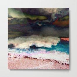 Hawaii Makaha Beach Abstract Metal Print