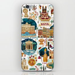 Rome map iPhone Skin