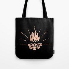CAMPFIRE - Rose Gold Pink Rustic Camping Adventure Fire Art Design Tote Bag