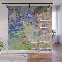 Abstracted Spring Iris Wall Mural