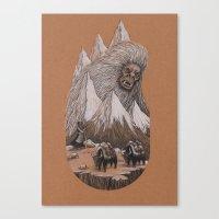 yeti Canvas Prints featuring Yeti by Jamie Leonard