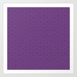 Purple Eggplant Tres Petit Geometric Pattern Art Print