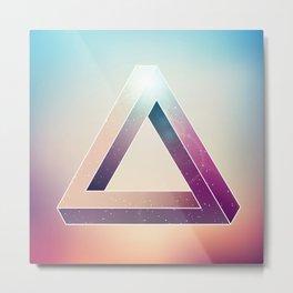 Penrose Triangular Universe Metal Print