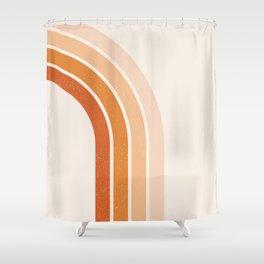 Peachy Rainbow Arch Shower Curtain