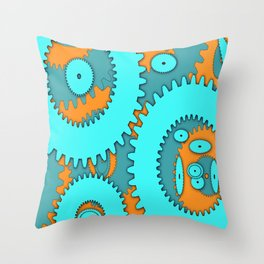 geometry schematic diagram blue Throw Pillow
