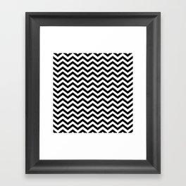 Keep Calm And Dream On (Zig Zag Chevron Black Lodge Floor, Twin Peaks) Framed Art Print