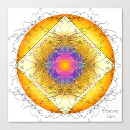 Mandala Blanca Canvas Print