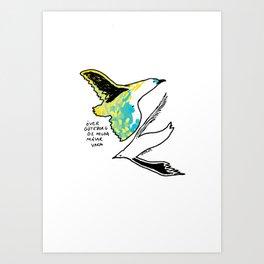 Serene seagulls Art Print