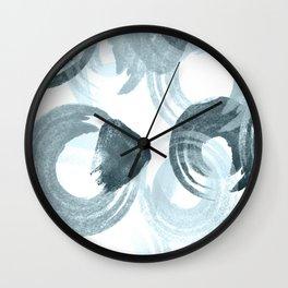 Curling Blue Wall Clock