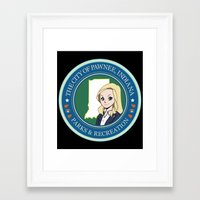 parks and rec Framed Art Prints featuring Parks & Rec. by BlackRose Designs