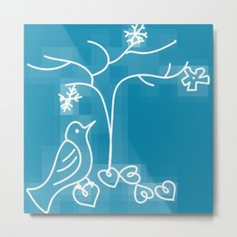 winter song bird Metal Print