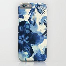 Shibori Inspired Oversized Indigo Floral iPhone Case