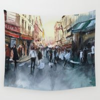 paris Wall Tapestries featuring PARIS by Nicolas Jolly