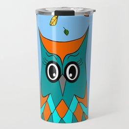 Owl And Birds Travel Mug
