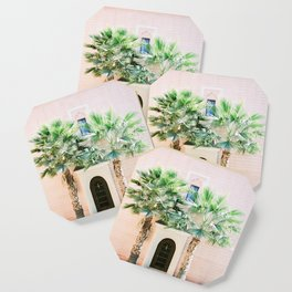 """Travel photography print """"Magical Marrakech"""" photo art made in Morocco. Pastel colored. Coaster"""