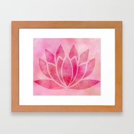 Zen Watercolor Lotus Flower Yoga Symbol Framed Art Print